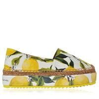There's nothing more fun than these Dolce and Gabbana citrus espadrilles. We approve. Women's Espadrilles, Espadrille Sandals, Shoes Sandals, Flats, Dolce & Gabbana, Bootie Boots, Shoe Boots, Shoe Story, Fashion Socks