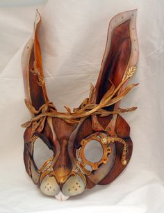 Steampunk March Hare Leather Rabbit Alice in by PlatyMorph on Etsy, $160.00