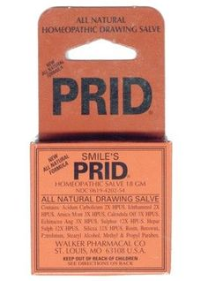 Smile's Prid Salve: Draws anything to the surface of your skin - splinters, subterranean zits, and more (I haven't tried but lots of testimonials on amazon)