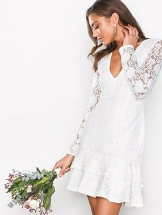 LS Frill Lace Dress