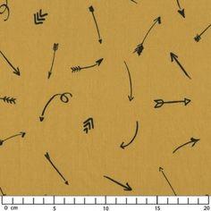 Comme une flèche - Polycoton Moutarde x10cm