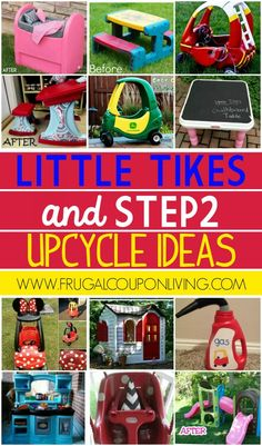 Little Tikes and Upcycle Ideas on Frugal Coupon Living Recycle your kids toys and turn them into something fun and new! New Little Tikes Toy Ideas and Recycled Toys. The post and Little Tikes Upcycle Ideas appeared first on Easy Crafts. Backyard Toys For Kids, Backyard Ideas, Outside Toys For Kids, Porch Ideas, Projects For Kids, Diy For Kids, Kids Fun, Outdoor Projects, Little Tikes Makeover