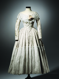 The wedding dress Mia Wasikowska wore in Jane Eyre (2011). Costume by Michael O'Connor.