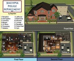 Mod The Sims - Simtopia: Community Set #2 (2 Fire Stations and 2 Police Stations)