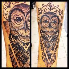dotwork owl tattoo - Buscar con Google