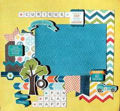 Curious Boys will Be Boys scrapbooks premade pages by DIYFabulous