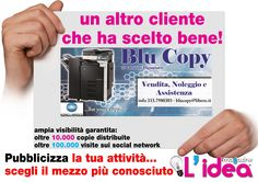 grafica da noi realizzata per Blu Copy -Rossano- CS