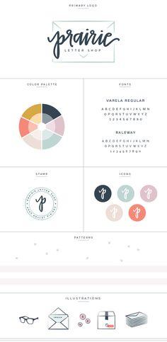 New Brand + Website Design for Prairie Letter Shop