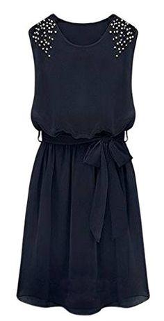 AM CLOTHES Womens Round Neck Middle-rise Dress with Belt (X-small, Blue) AM CLOTHES http://www.amazon.com/dp/B00NTONLTG/ref=cm_sw_r_pi_dp_8Nclvb0KCR5N1