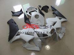 Matte Black & White 2005-2006 Honda CBR600RR Kings Motorcycle Fairings