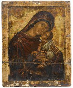 Madre di Dio Eleousa (Amolintos) - Creta -seconda metà 15 ° secolo - Sotheby's
