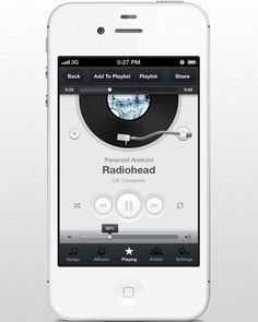Music App UI (iPhone) by Piotr Kwiatkowski