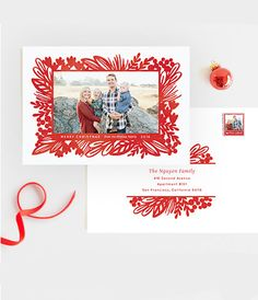 """Winter Floral Holiday Card """"Bold Botanicals"""" by Minted artist Laura Hankins. Personalizable by you on Minted.com"""