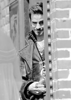 Colin O'Donoghue on set of Once Upon a Time