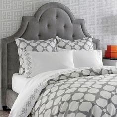 Grey Hollywood Duvet Cover. Add some pops of pink for a big girl room