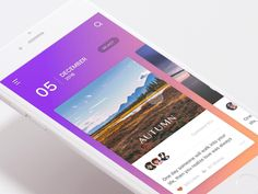 """via Muzli design inspiration. """"UI Interactions of the week is published by Muzli in Muzli - Design Inspiration. Ui Design Mobile, App Ui Design, Interface Design, Flat Design, Design Design, Design Thinking, People App, Motion Design, Card Ui"""
