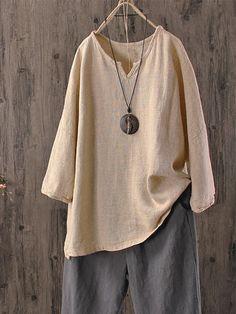 c3dcaad07a Shop Blouse - Solid Vintage Blouse online. Discover unique designers  fashion at talemiss.com