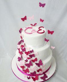 Hochzeit Schmetterlinge Schwarm