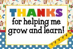 FREE Teacher Appreciation Thank You Cards | MySunWillShine.com