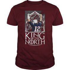 Tom Brady king of the north maroon guy shirt