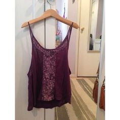 2 for $7, 3 for $10 Purple Boutique Tank Top Cute tiny tank top... I wore this one time! Great condition. I wore it with a bandeau. Its on the small side ( less coverage then the basic tank top )  Tops Tank Tops