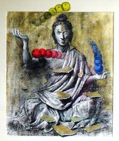 "Vijender Sharma  ""Budha""  Drawing Yogi Tattoo, Meditation Exercises, Traditional Stories, Buddha Art, Zen Art, Artist Names, Photo Manipulation, Female Art, Namaste"