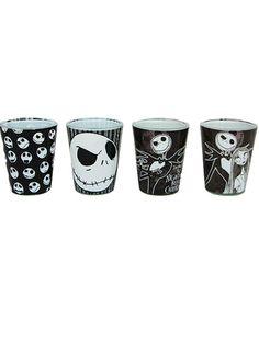 """Nightmare Before Christmas"" Shot Glass Set (Black)"