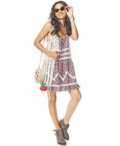 Festival Fashion: Printed Dress & Fringed Vest Look
