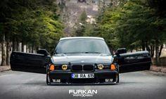 BMW E36 3 series black slammed Furkan