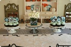 Aqua blue baby shower for a boy