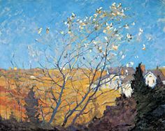 """Gertrude Fiske (1878–1961), Silver Maple, Ogunquit, ca. 1920, Oil on canvas, 24 x 30"""".  Fiske was a student of Charles Woodbury at Ogunquit."""