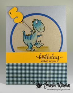 Hi Everyone,     ever year I need to make birthday cards for twins - they are now 5 years old! Here is my first one for this year - the oth...