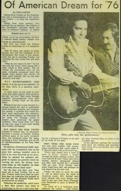 Elvis Presley - 7- 4 -1976 Newspaper Concert Review for his show in Tulsa Oklahoma