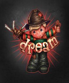 T-Shirts by Tim_Shumate_Illustrations Scary Movies, Horror Movies, Halloween Movies, Halloween Art, Dark Thoughts, Cute Dragons, Nightmare On Elm Street, Freddy Krueger, Cute Disney