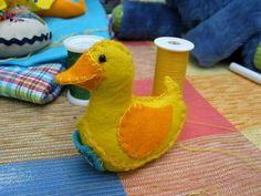 Nosey Nest Pattern Shop - downloadable soft toy patterns: Lucky Ducky Freebie