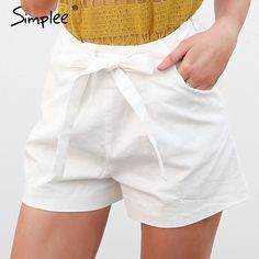 Simplee Tie up zipper plaid shorts women bottom Ring streetwear summer shorts 2018 Casual white zipper high waist shorts femme - #buynow #free #freeshipping