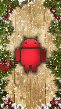 Resolution 1080x1920 Wallpapers - Bugdroid Christmas Android wallpapers