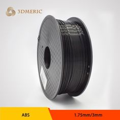 China aliexpress 3d printer ABS filament 1.75mm/3mm 1 KG/spool black color impressora 3d filament for createbot,makerbot,reprap,