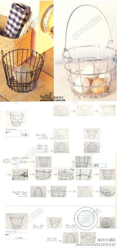 Aluminum wire by hand - round your basket