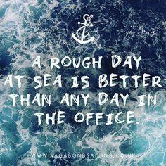 Rough days at sea always beat the office  #sailaway #sailing #adventure #adventuretime