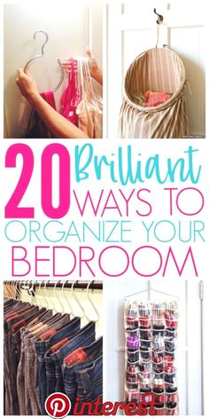 20 Amazing Organization Hacks That Will Transform Your Bedroom - Organization Obsessed - 20 Brilliant Ways To Organize A Bedroom Brilliant Ways To Organize A Bedroom Informations Abo - Organisation Hacks, Organizing Hacks, Organizing Your Home, Bathroom Organization, Storage Organization, Cleaning Hacks, Organising, Organizing A Bedroom, Organization Ideas For Bedrooms
