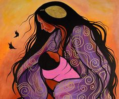 Mother and Child by Jackie Traverse (Anishinaabe)