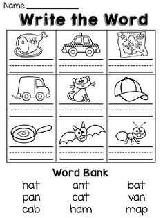 Short Vowel Practice Worksheets   Teaching Tools   Pinterest   Vowel ...