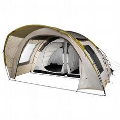BARRACA QUECHUA T 6.2. Uma super barraca para seis pessoas, com teto duplo em poliéster revestido com PU, quarto em poliéster respirante, chão em polietileno, varetas em fibra com 12,7 mm de diâmetro. http://www.decathlon.com.br/montanha/camping/barracas