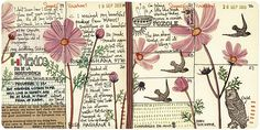 """Geninne's journal inspired my own similar calendar - a great idea for those of us who don't keep a """"diary."""""""