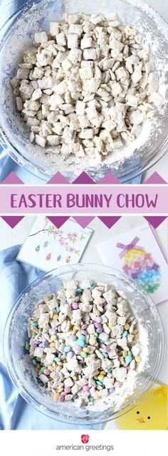 When you think of the perfect spring treat, this recipe for Easter Bunny Chow is sure to top your list! Grab cereal, white chocolate chips, vanilla pudding mix, and pastel chocolate candies to whip up this festive dessert. When paired with a spring-themed greeting card, this quick and easy dessert turns into a thoughtful and delicious gift idea for your friends and family! Grab everything you need at Target.