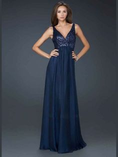Impressive Chiffon A-Line Floor-Length Straps Sleeveless V-Neck Evening Sequined Prom Dress
