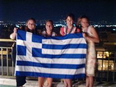 A rooftop in Athens on July 4, 2004 when the Greek soccer team won the Euro Cup