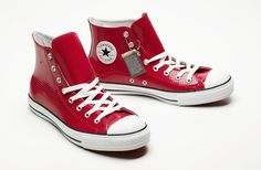 Converse X Barney's. Perforated, red patent leather.