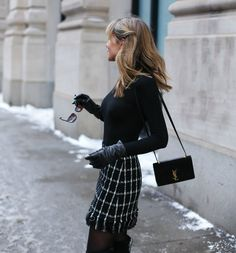 Ivory Blazer and Checked Mini | MEMORANDUM | NYC Fashion & Lifestyle Blog for the Working Girl